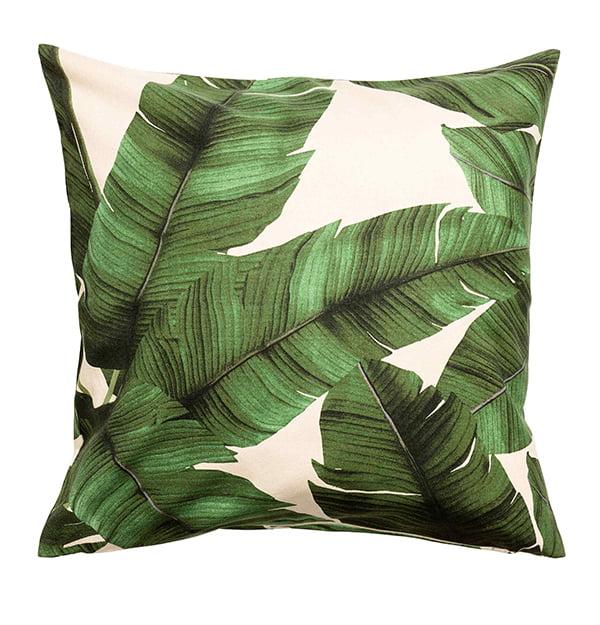 Kissenhülle mit Blätterdruck von H&M Home