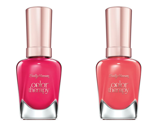 Pampered in Pink and Aura'nt You Relaxed? (Sally Hansen Color Therapy)