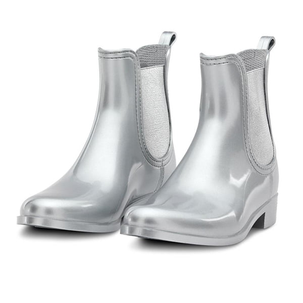 Metallic Shoes: Chelsea Rain Boot (Navyboot)