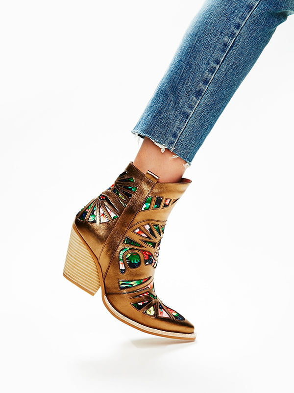 Metallic Schuhe: Wilshire Western Boot by Free People