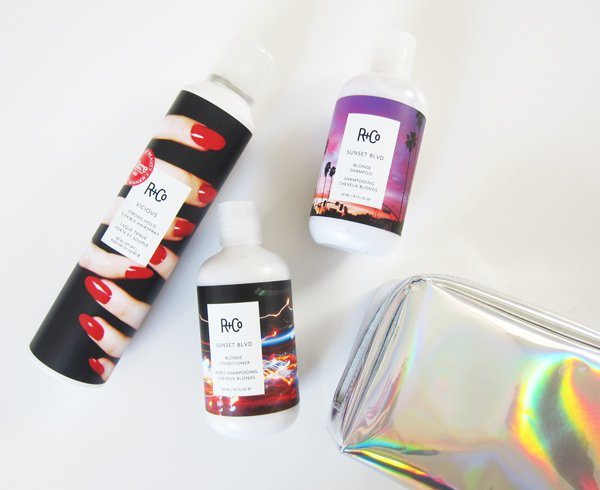 R+Co Review on Hey Pretty: Sunset BVLD Shampoo & Conditioner and Vicious Hairspray