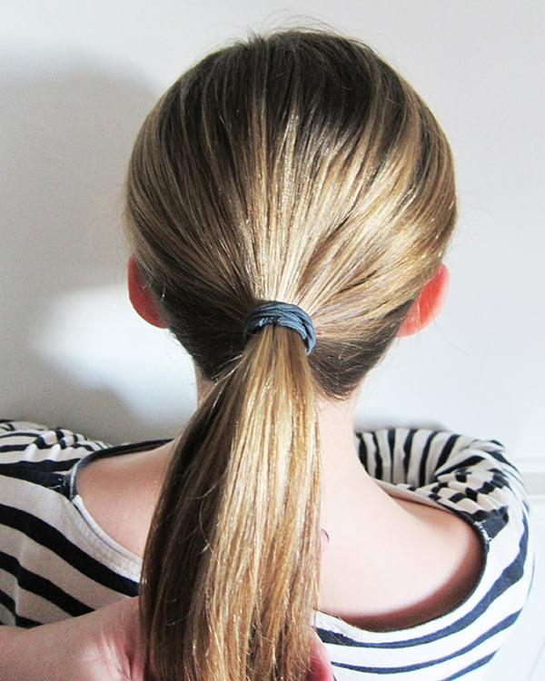 Fishtail braid, Step 1: Make a tight ponytail