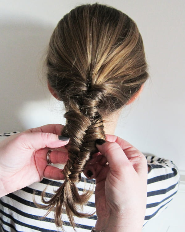 Fishtail Braid, Step 8: Loosen the braid!