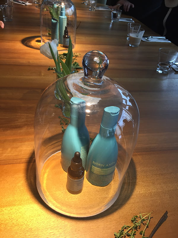 Lovely decoration for the Björn Axén Organic Launch Event in Zurich
