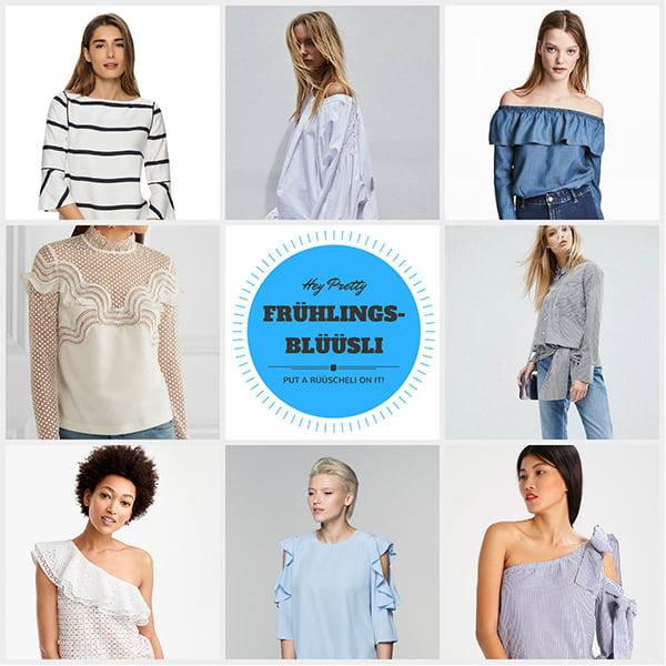 Frühlingsblüüsli: Der Hey Pretty Edit mit den schönsten Blusen zum Modefrühling 2017