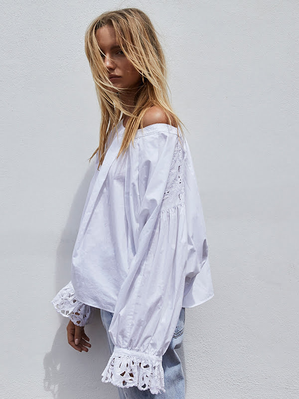Frühlingsblüüsli: Wishing Well Blouse bei Free People