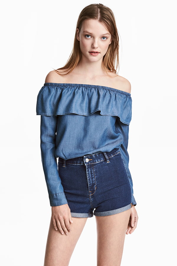 Bluse aus Lycocell von H&M Concious (Frühlingsblüüsli auf Hey Pretty)