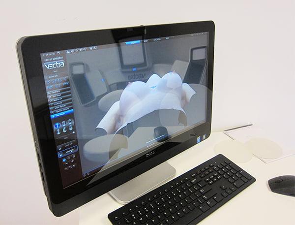 Brustvergrösserung im Breast Atelier Zürich: 3D-Simulation