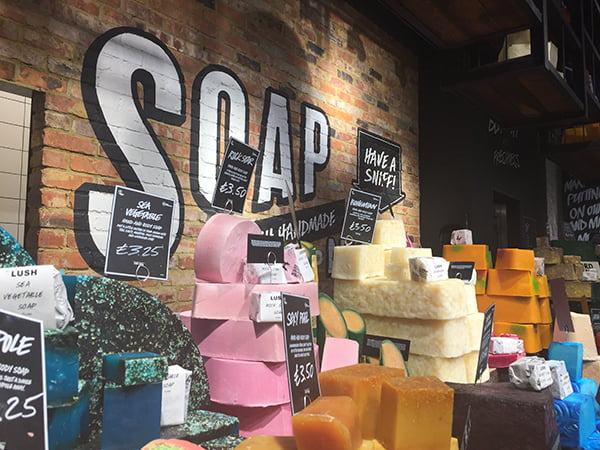 LUSH Oxford Street London, Soaps