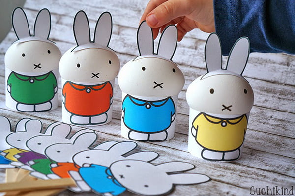 Miffy Ostern (Free Printable) by Cuchikind: Easter DIY and Crafting Ideas by Hey Pretty