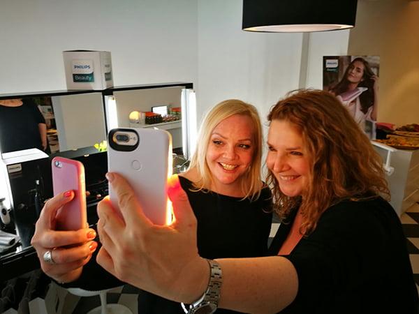 Serena Goldenbaum & Steffi Hidber (Hey Pretty) am Philips Schönheitstag