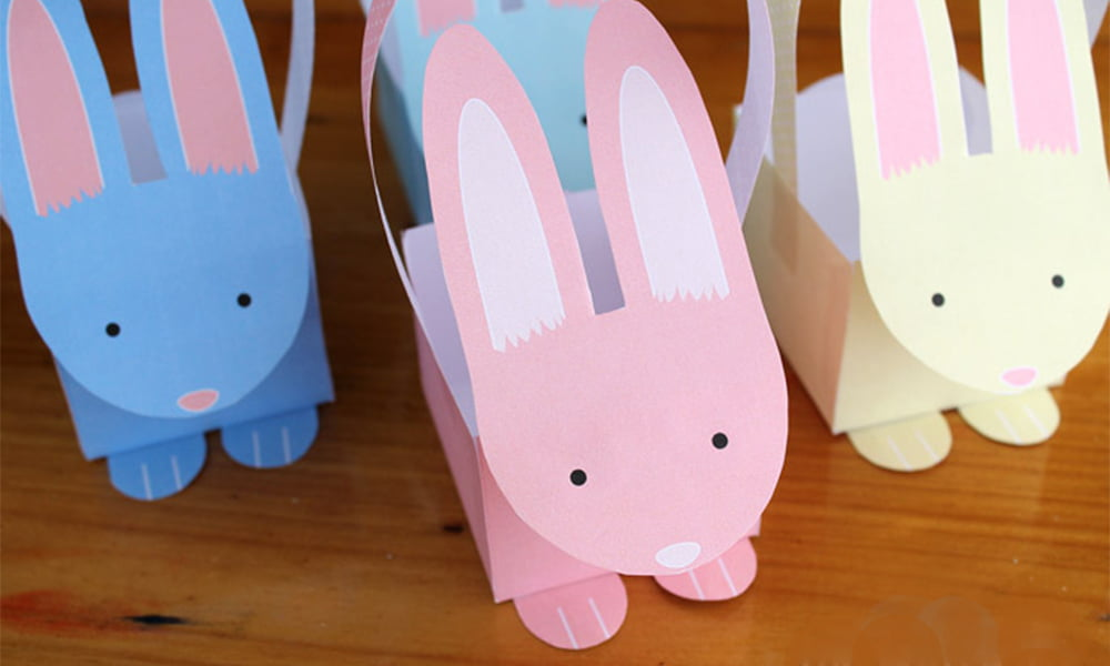 Bunny Baskets DIY by the Craft Train (Easter Free Printables), Roundup by Hey Pretty