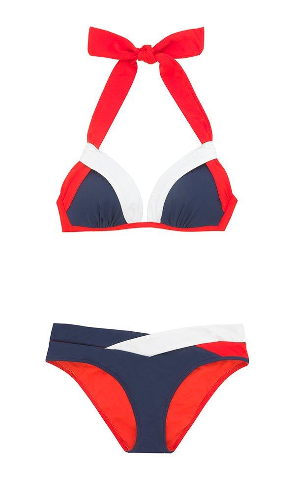 Bikini Blau Weiss Rot von Manor