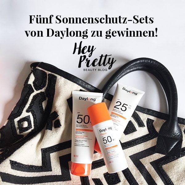 Sonnenschutz Set mit Daylong Protect & care Face Fluid SPF 50+ zu gewinnen (Hey Pretty Beauty Blog)