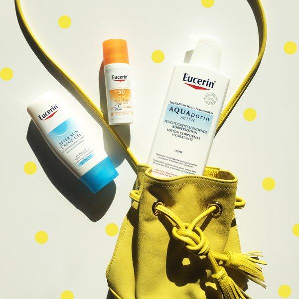 Eucerin Sonnenschutz, Verlosung Sonnenpflege-Set auf Hey Pretty (eucerin.ch)
