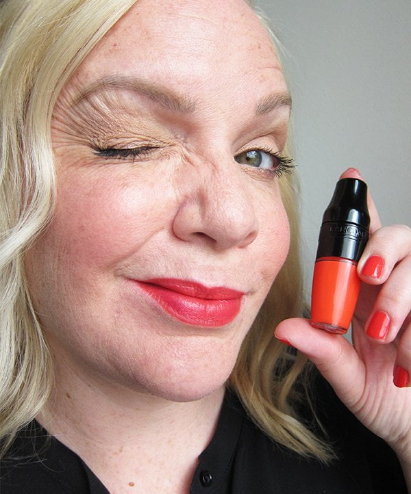 Lancome Matte Shaker in Magic Orange (Swatched by Hey Pretty)