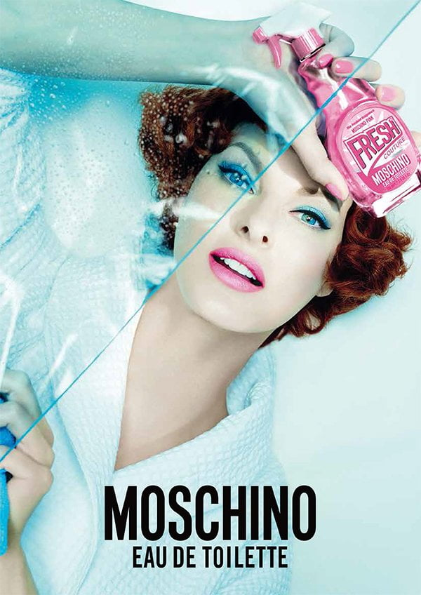 Moschino Pink Fresh Couture, PR Visual (Linda Evangelista)