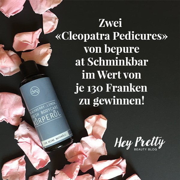 bepure and Schminkbar Cleopatra Pedicure Verlosung auf Hey Pretty Beauty Blog