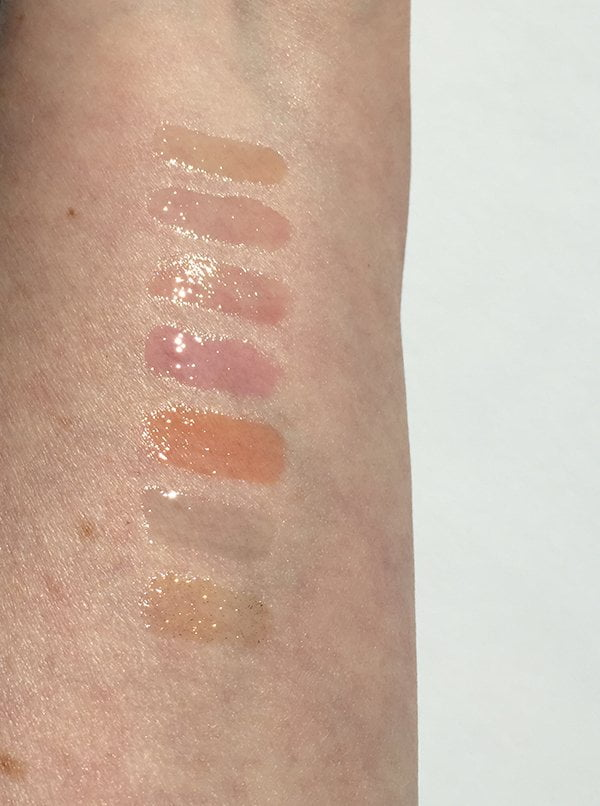 Clarins Instant Light Lip Comfort Oils (Spring 2017), swatched by Hey Pretty