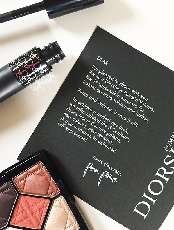 Diorshow Pum'n'Volume Presskit, Note from Peter Philips (Image by Hey Pretty Beauty Blog)