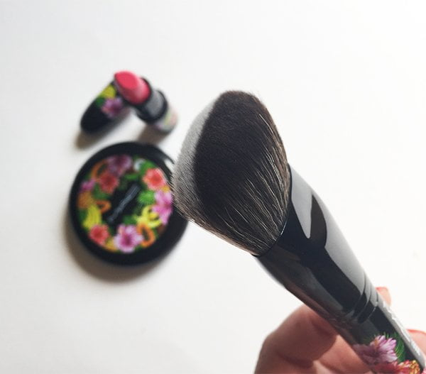 MAC Fruity Juicy Split Fibre Dense Face Brush 125, Image by Hey Pretty Beauty Blog