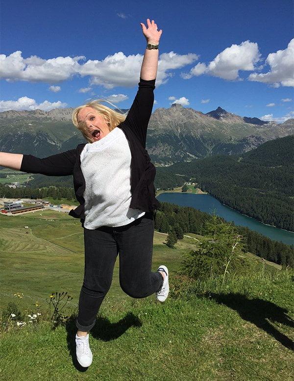 Steffi in der Natur (St. Moritz)