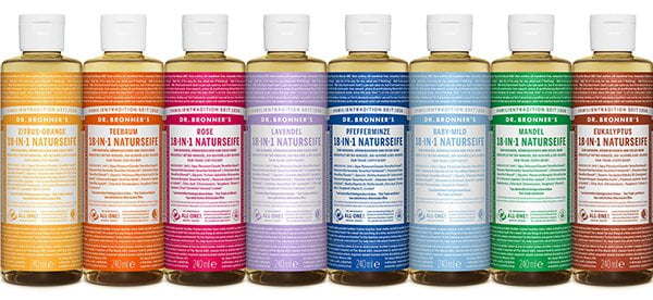 Dr. Bronners Liquid Soaps, PR Image (Review and Brand Love by Hey Pretty)