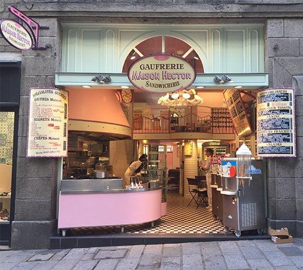 Sandwicherie in Saint-Malo, Bretagne