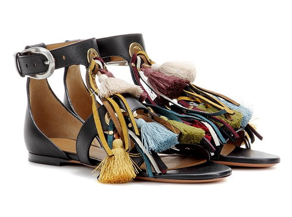 Chloé Embellished Leather Sandals with Tassels (Best Summer Sandals 2017) Fashion Flash by Hey Pretty