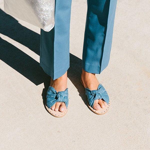 Loeffler Randall Denim Slide (Summer Sandals 2017) – Hey Pretty Fashion Flash