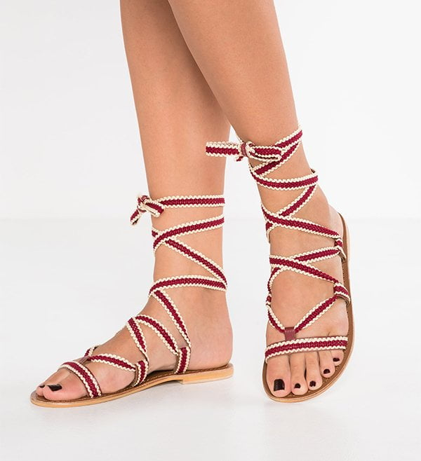 Topshop Sandals with red ribbon (Hey Pretty Fashion Flash: Prettiest Sandals 2017)