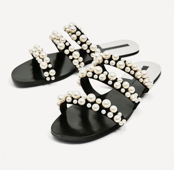 Zara Pearly Strappy Sandals (Hey Pretty Sandalen Lieblinge 2017): Fashion Flash
