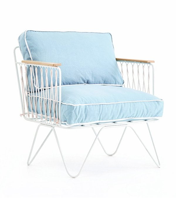 Honoré Deco Sessel Hellblau (Terrassen Deko und Möbel) Hey Pretty