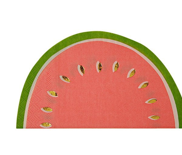 Melonenservietten von Meri Meri (Balkon- und Terrassen Dekoration auf Hey Pretty, Sommer 2017)