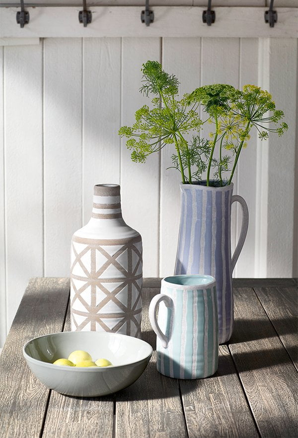 Vasen von Interio, Sommer 2017 (Terrasse und Balkon Deko auf Hey Pretty)