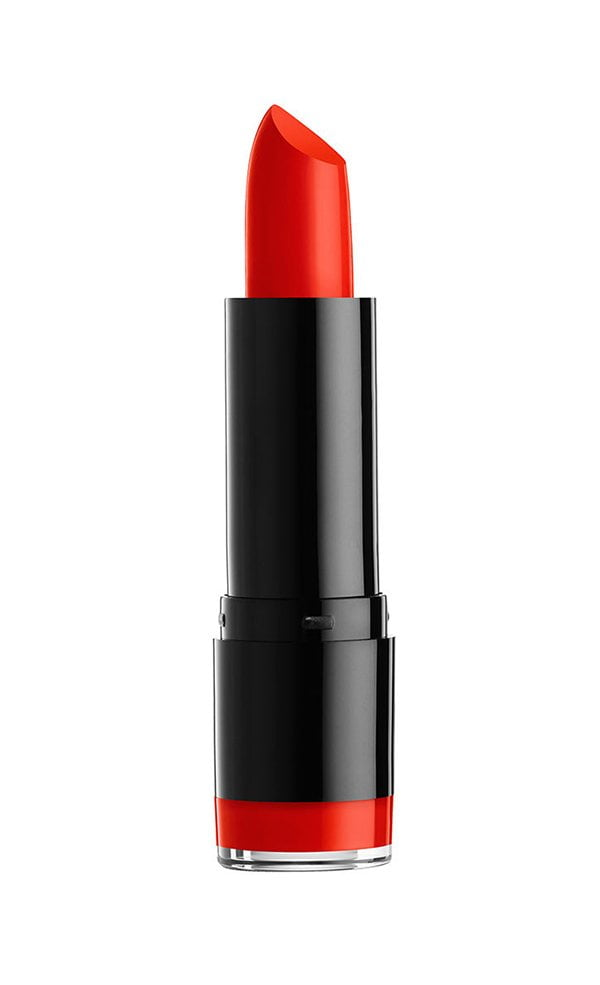 NYX Professional Makeup Round Lipstick in Eros (10 rote Lippenstifte, die dich glücklich machen) – der Hey Pretty Edit