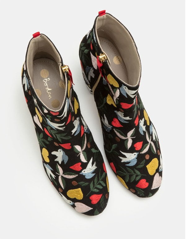 Boden Folk Boots with Embroidery (Hey Pretty Fashion Flash)