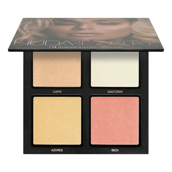 Huda Beauty 3D Highlighter Palette – Pink Edition (in der Schweiz bei Sephora at Manor erhältlich), Review by Hey Pretty
