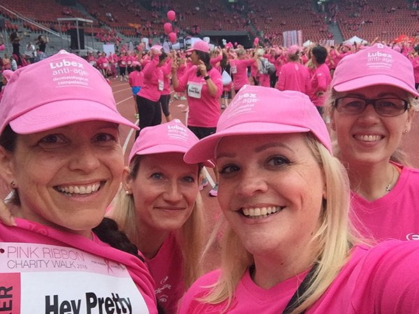 Pink Ribbon Walk 2016 mit Hey Pretty
