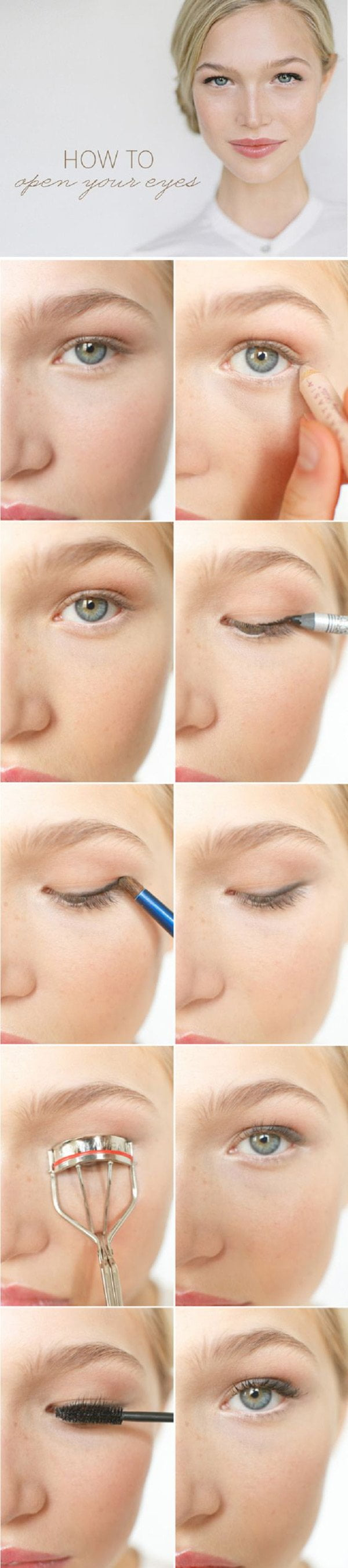 Best Make-Up Tutorials on Pinterest: How to Open Your Eyes with 3 Products or Less