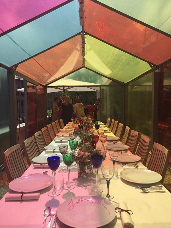 Presse-Launch Twilly d'Hermès in Paris: Lunch-Tisch (Image by Hey Pretty)