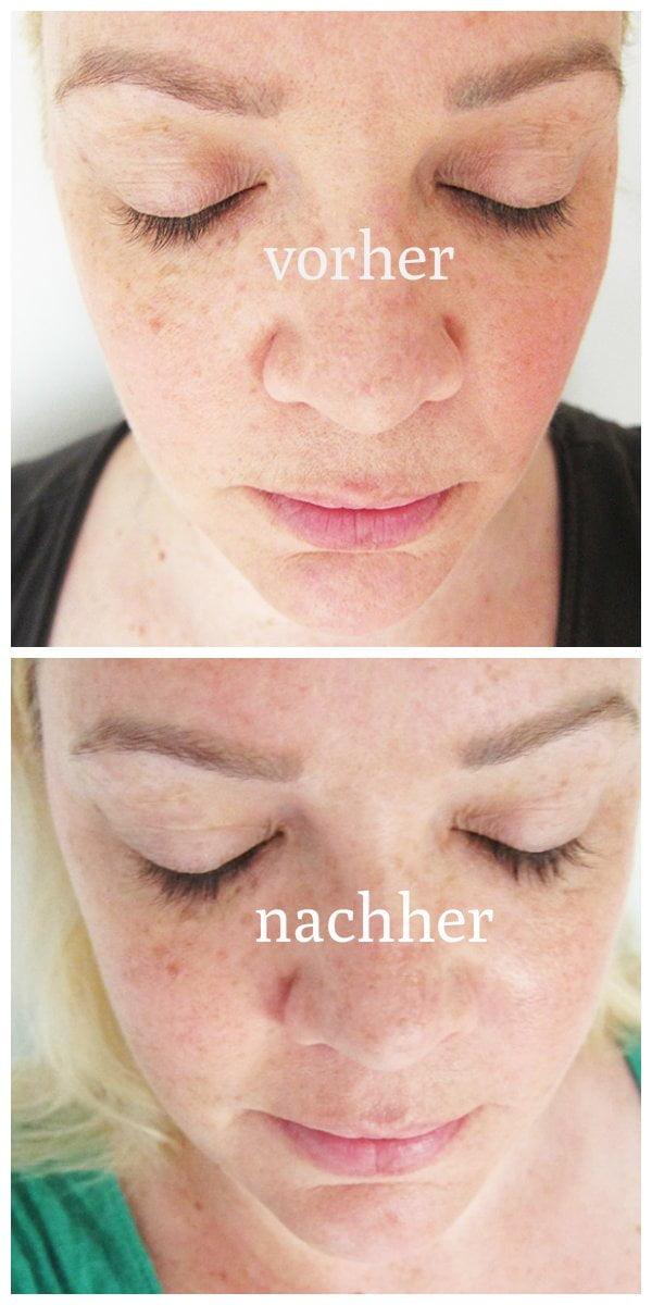 BeautyLash Eyelash Growth Booster: Vorher-Nachher-Bilder von Hey Pretty Beauty Blog nach 10 Wochen Anwendung