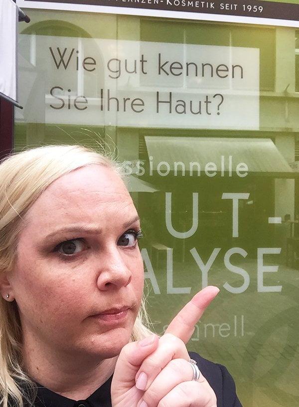 Yves Rocher Hautanalyse mit Hey Pretty: Boutique an der Kuttelgasse Zürich