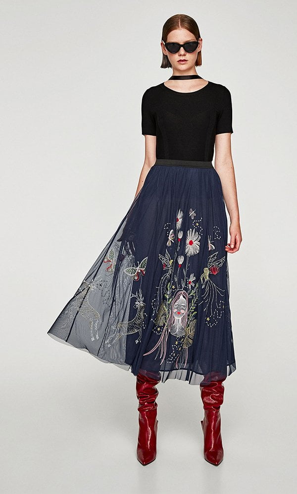 Embroidery Trends: Zara Tulle Dress (FW 2017), Hey Pretty