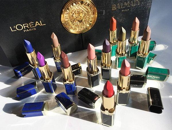 L'Oréal Paris x Balmain Paris Color Riche Lipstick Collection 2017 (PR Coffret), Image and review by Hey Pretty