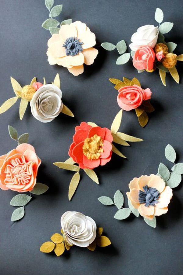 Die besten DIY Projekte auf Pinterest: Filzblumen von Delia Creates