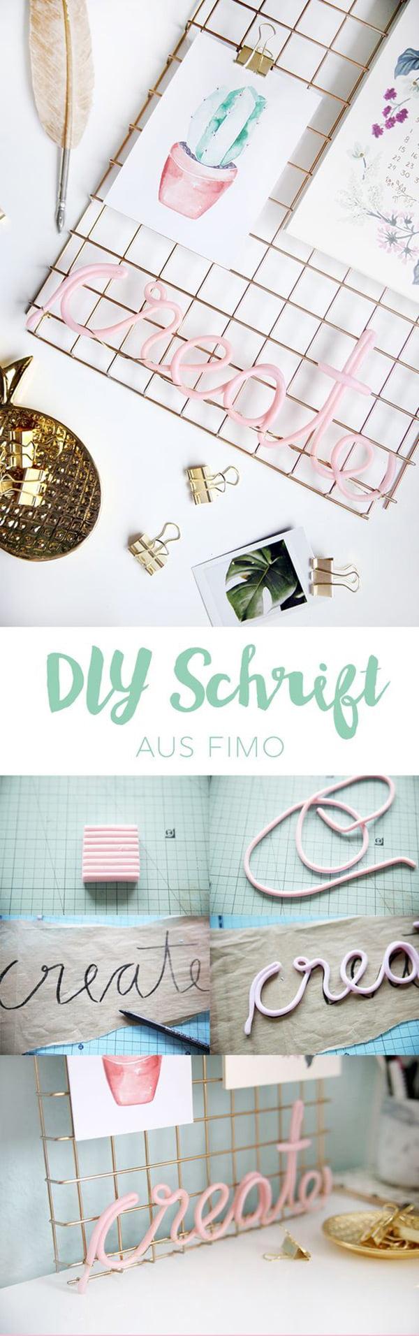 Die besten DIY-Ideen auf Pinterest: Fimo Schrift von Mein Feenstaub