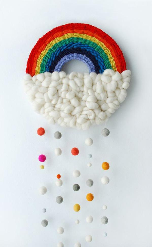 Die besten DIY Ideen auf Pinterest: Gewobener Regenbogen von We Are Scout