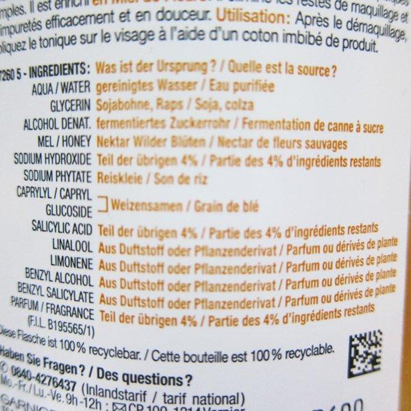 Garnier Skinactive Label (Balm): Neue Auflistung der Inhaltsstoffe