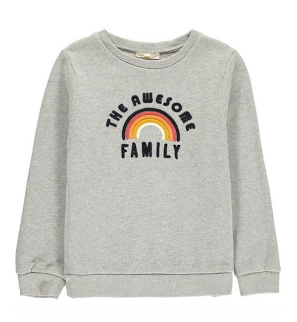 Coole Kindermode in Zürich: Nook (auch als Webshop) – Pullover The Awesome Family von Hundred Pieces